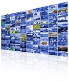 Τηλεοπτικός τοίχος της οθόνης TV Στοκ Εικόνες