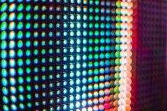 Τηλεοπτικός τοίχος των φωτεινών χρωματισμένος οδηγήσεων με το υψηλό διαποτισμένο σχέδιο - clos Στοκ φωτογραφία με δικαίωμα ελεύθερης χρήσης