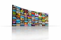 Τηλεοπτικός τοίχος στοκ φωτογραφία με δικαίωμα ελεύθερης χρήσης