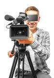 Τηλεοπτικός χειριστής στοκ φωτογραφίες