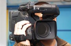 Τηλεοπτικό καμεραμάν Στοκ Εικόνες