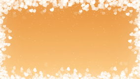 Τηλεοπτικό πλαίσιο ημέρας βαλεντίνων με τις πετώντας καρδιές στο χρυσό υπόβαθρο διανυσματική απεικόνιση