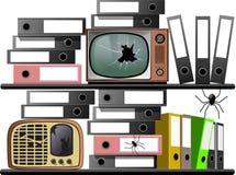 Τηλεοπτικό ραδιόφωνο αρχείων Στοκ φωτογραφία με δικαίωμα ελεύθερης χρήσης