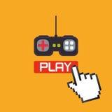 Τηλεοπτικό σχέδιο παιχνιδιών Στοκ Φωτογραφία