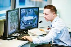Τηλεοπτικό σύστημα ασφαλείας επιτήρησης ελέγχου Στοκ Εικόνες