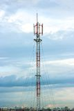 Τηλεπικοινωνίες στην πόλη Στοκ εικόνα με δικαίωμα ελεύθερης χρήσης