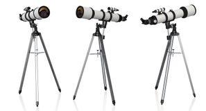 Τηλεσκόπια στο τρίποδο που απομονώνεται διανυσματική απεικόνιση