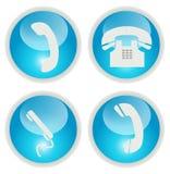 Τηλεφωνικά εικονίδια ελεύθερη απεικόνιση δικαιώματος