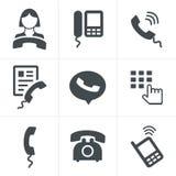 Τηλεφωνικά εικονίδια Στοκ Φωτογραφίες