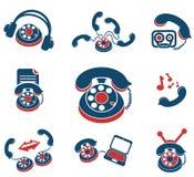 Τηλεφωνικά εικονίδια Στοκ Εικόνα