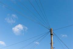 Τηλεφωνικά καλώδια Στοκ φωτογραφίες με δικαίωμα ελεύθερης χρήσης