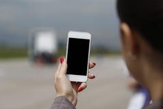 Τηλεφωνικά κόκκινα καρφιά Στοκ φωτογραφία με δικαίωμα ελεύθερης χρήσης