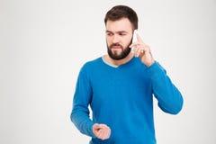 τηλεφωνική ομιλίαη ατόμων Στοκ Φωτογραφίες