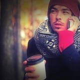 τηλεφωνική ομιλία ατόμων Στοκ Φωτογραφία