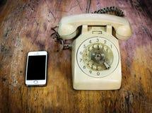 Τηλεφωνική σύγκριση στοκ εικόνα
