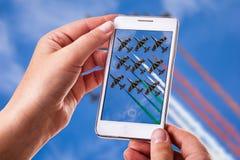 Τηλεφωνική φωτογραφία Airshow Στοκ Εικόνες