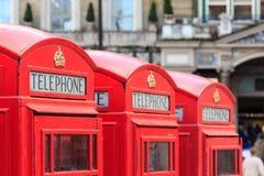 Τηλεφωνικοί θάλαμοι του Λονδίνου Στοκ εικόνα με δικαίωμα ελεύθερης χρήσης