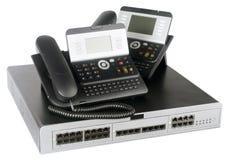 Τηλεφωνικοί διακόπτης και τηλέφωνα Στοκ Εικόνα