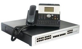 Τηλεφωνικοί διακόπτης και τηλέφωνο Στοκ εικόνες με δικαίωμα ελεύθερης χρήσης