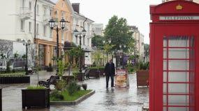 Τηλεφωνικός θάλαμος στο αναδρομικό ύφος Στοκ φωτογραφία με δικαίωμα ελεύθερης χρήσης