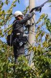 Τηλεφωνικός μηχανικός Στοκ φωτογραφίες με δικαίωμα ελεύθερης χρήσης