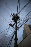 Τηλεφωνικός πόλος Στοκ Φωτογραφίες