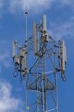 Τηλεφωνικός πύργος κυττάρων τηλεπικοινωνιών Στοκ Εικόνες
