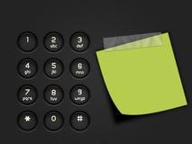 Τηλεφωνικό αριθμητικό πληκτρολόγιο Στοκ Φωτογραφία