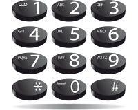 Τηλεφωνικό αριθμητικό πληκτρολόγιο Στοκ φωτογραφία με δικαίωμα ελεύθερης χρήσης