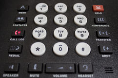 Τηλεφωνικό αριθμητικό πληκτρολόγιο VOIP Στοκ εικόνες με δικαίωμα ελεύθερης χρήσης