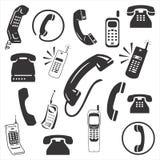 Τηλεφωνικό εικονίδιο ελεύθερη απεικόνιση δικαιώματος