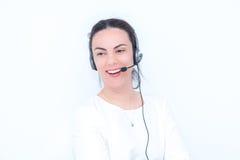 Τηλεφωνικό κέντρο γυναικών στοκ εικόνα με δικαίωμα ελεύθερης χρήσης