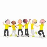 Τηλεφωνικό κέντρο bisness χειριστών κίτρινο Στοκ εικόνες με δικαίωμα ελεύθερης χρήσης