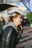 τηλεφωνικό κοινό κιβωτίων στοκ εικόνα