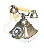 Τηλεφωνικό μέταλλο αναδρομικό Στοκ φωτογραφία με δικαίωμα ελεύθερης χρήσης