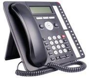 Τηλεφωνικό σύνολο γραφείων που απομονώνεται Στοκ Φωτογραφία