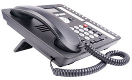 Τηλεφωνικό σύνολο γραφείων που απομονώνεται Στοκ Εικόνες