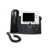 Τηλεφωνικό σύνολο γραφείων IP με το μεγάλο LCD που απομονώνεται στο άσπρο backg Στοκ φωτογραφίες με δικαίωμα ελεύθερης χρήσης