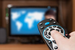 Τηλεχειρισμός TV Στοκ Φωτογραφίες