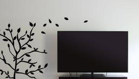 Τηλεόραση και τοίχος Στοκ φωτογραφία με δικαίωμα ελεύθερης χρήσης