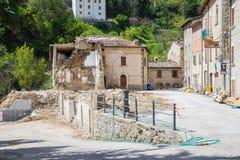 Τη ζημία που προκαλείται από το σεισμό εκείνο το χτύπημα κεντρική Ιταλία σε 20 Στοκ Φωτογραφία