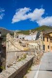 Τη ζημία που προκαλείται από το σεισμό εκείνο το χτύπημα κεντρική Ιταλία σε 20 Στοκ Φωτογραφίες