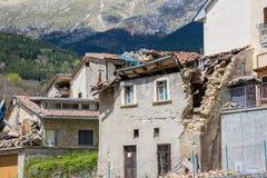 Τη ζημία που προκαλείται από το σεισμό εκείνο το χτύπημα κεντρική Ιταλία σε 20 Στοκ φωτογραφία με δικαίωμα ελεύθερης χρήσης