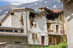 Τη ζημία που προκαλείται από το σεισμό εκείνο το χτύπημα κεντρική Ιταλία σε 20 Στοκ Εικόνες