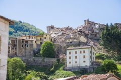 Τη ζημία που προκαλείται από το σεισμό εκείνο το χτύπημα κεντρική Ιταλία σε 20 Στοκ Εικόνα