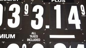 τιμές αερίου Στοκ Φωτογραφία