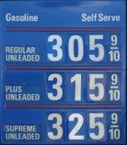 τιμές βενζίνης Στοκ Εικόνα