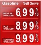 τιμές βενζίνης Στοκ εικόνες με δικαίωμα ελεύθερης χρήσης