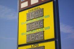 τιμές καυσίμων Στοκ εικόνα με δικαίωμα ελεύθερης χρήσης