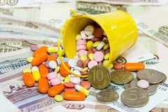 Τιμές των φαρμάκων Στοκ Φωτογραφία